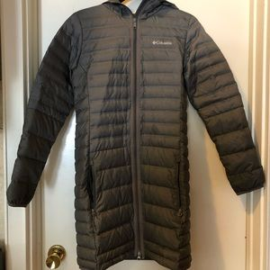 Columbia down jacket long 650 fill